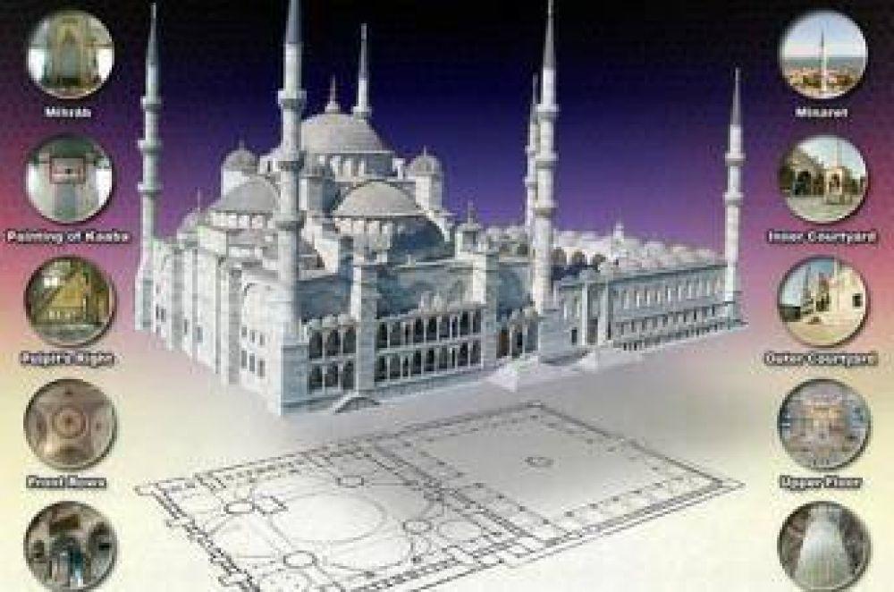 Visitar las mezquitas en visión panorámica 360º