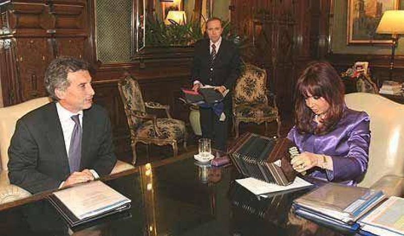 """Para Macri, la """"extensa reunión"""" con la Presidente fue """"un paso adelante"""""""