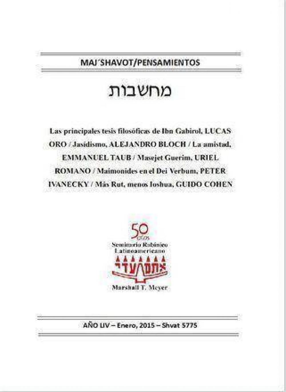 Seminario Rabinico presenta la nueva edición de Majshavot