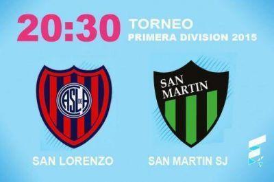 San Lorenzo quiere seguir de racha ante San Martín de San Juan