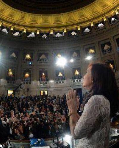 Cristina habla ante la Asamblea Legislativa