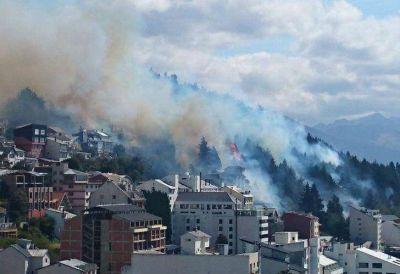 Incendio en el centro de Bariloche