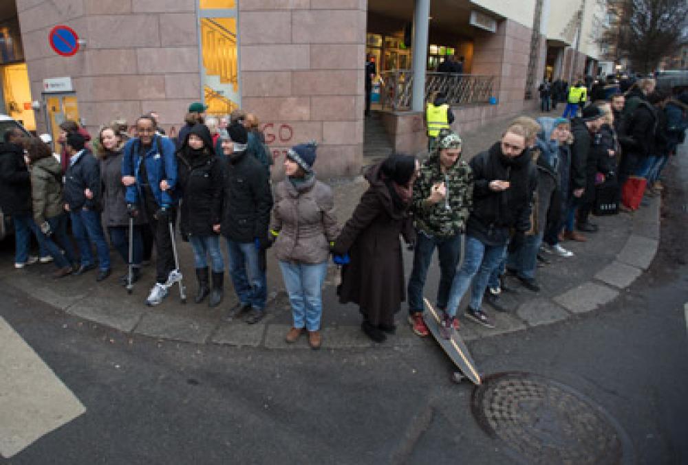 Anillo de paz en apoyo a los musulmanes de Oslo