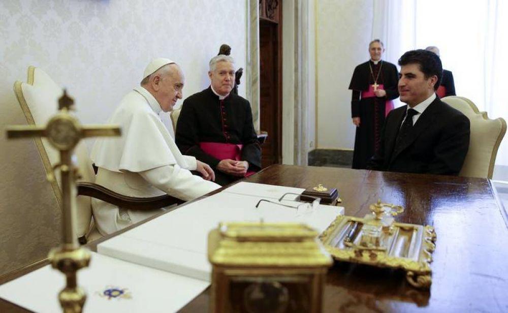 Barzani pide al Papa apoyo internacional para Kurdistán