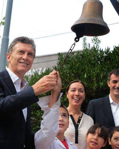 """Macri: """"si hay una palabra que define al primer día de clases es crecimiento"""""""