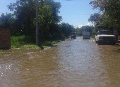 Lafinur: evacuaron al 80 por ciento de la población y esperan una nueva crecida del río Conlara