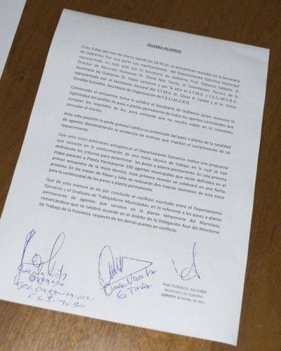 """Saldaño: """"Llegamos a un acuerdo satisfactorio para destrabar este conflicto"""""""