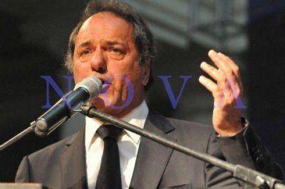 Scioli volvió a pedir por la aprobación de la ley de