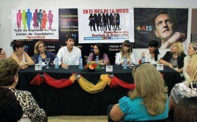 Reuni�n abierta de mujeres del Frente Renovador en Vicente L�pez