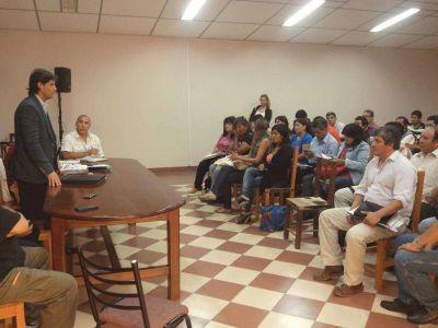 Plaza se reunió con directores de deportes del interior