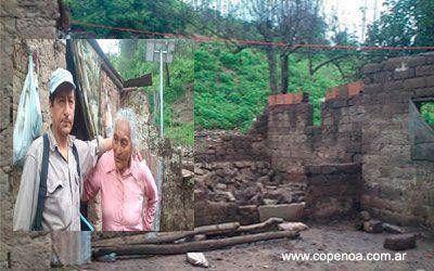 Salta: Comunidad Lules denuncia que el gobierno impide ayuda para una anciana que perdió su casa por la tormenta