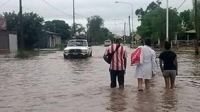 Un fuerte temporal provocó inundaciones en la Diócesis de Añatuya