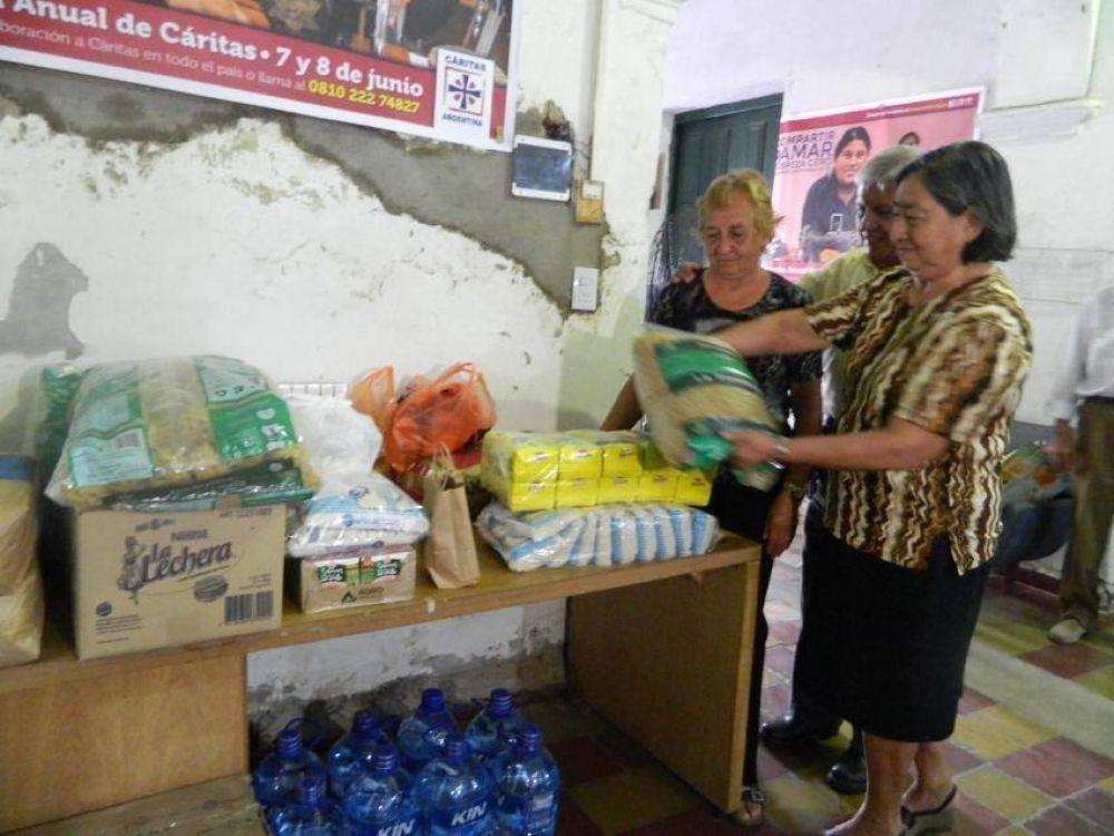 Cáritas coordina la ayuda para los inundados de Catamarca