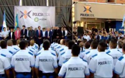 Scioli puso en funciones a la Policía Local de Avellaneda