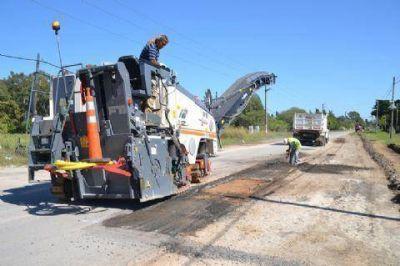 Avanzan las obras de reparación de la Ruta Provincial Nº 15