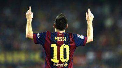 Messi hizo otro hat-trick, el Bar�a gole� y es el nuevo l�der de la Liga
