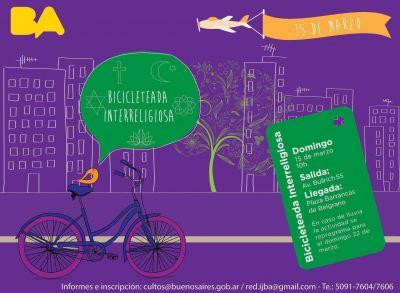 Bicicleteada interreligiosa por la ciudad