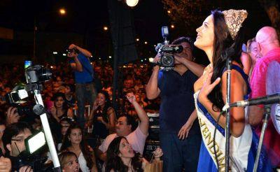 Rocío volvió a Junín para festejar con su gente