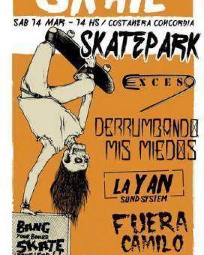 Se realizará un campeonato de skate en el SkatePark en la Costanera de Concordia