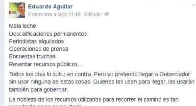 Se recalienta la interna peronista con cruces entre Martínez y Aguilar
