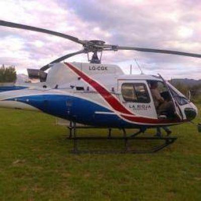"""""""El helicóptero del Estado riojano cumplía múltiples funciones"""""""