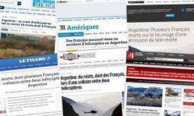 La prensa francesa reflejó el choque de helicópteros en La Rioja
