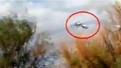 Video: así chocaron en el aire los helicópteros