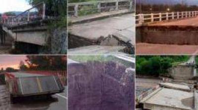 Estos son los nueve puentes que han colapsado en Tucumán
