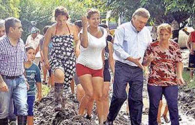 El municipio operativo para contener a los damnificados