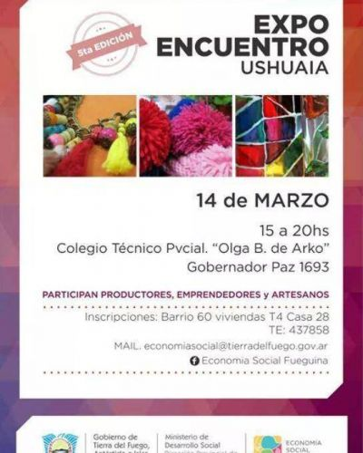 """Gobierno realizará la primer """"Expo Encuentro"""" del año en Ushuaia"""