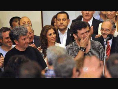 Ignacio Guido y Palo Pandolfo, en el cierre de la Semana de la Memoria