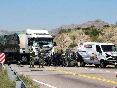 Un gran choque provocó el corte de la Ruta 7