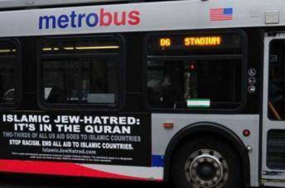 Ordenan a autobuses llevar anuncios antislámicos en los EE.UU.