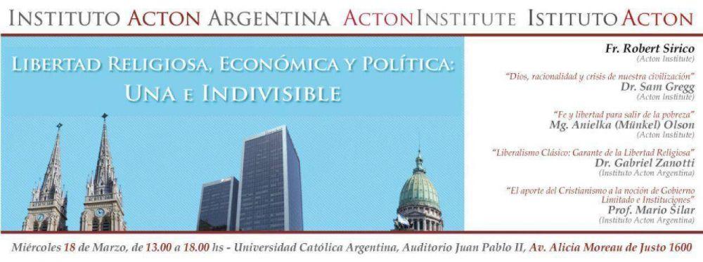 Conferencia internacional sobre la libertad religiosa y económica