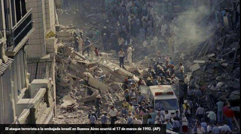 Hoy se cumplen 23 años del atentado a la Embajada de Israel