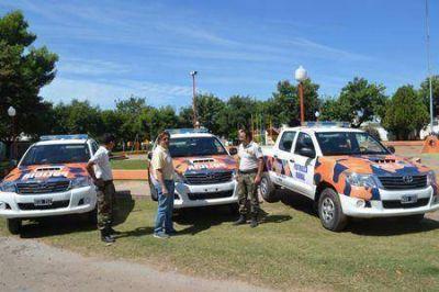 El Gobierno de Rojas presentó nuevos patrulleros