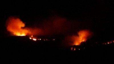 Voraz incendio arrasa más de 100 hectáreas en Sierra de los Padres