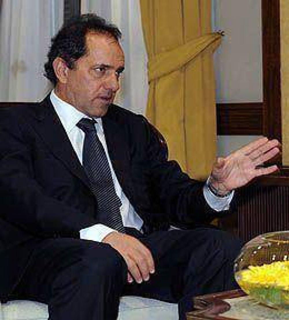 Scioli irá a la Rural y la próxima semana se reúne con la oposición