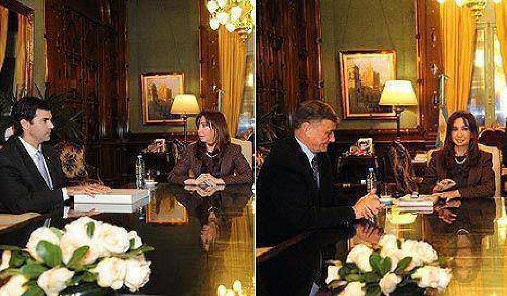 Binner y Urtubey reclamaron fondos durante su encuentro con Cristina