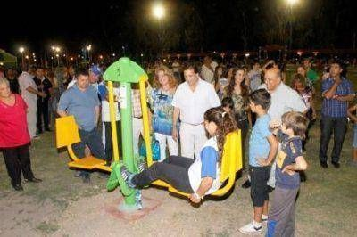 Inauguraron un circuito aeróbico y pista de skate en Albardón