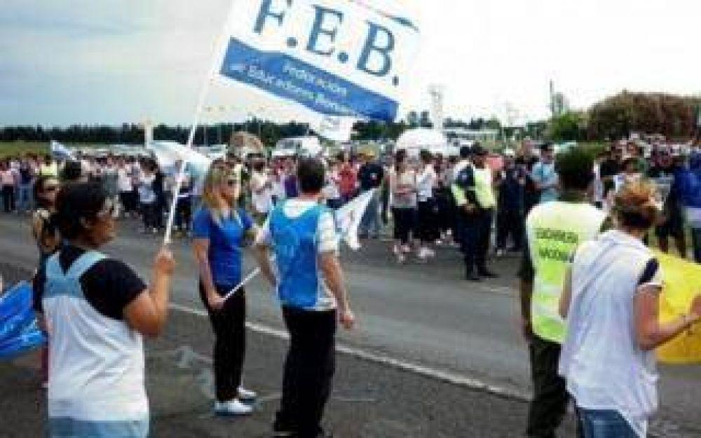 Docentes: FEB protestará en rutas en fines de semana largos