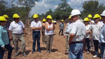 Una misión de la Corporación Andina de fomento recorrió obras en la provincia