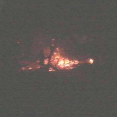 Chamical: incendio forestal en la Ruta 38