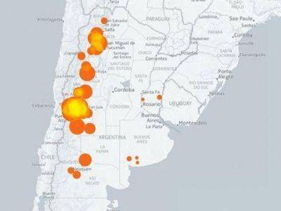 Crearon un mapa interactivo que muestra la producción de vino en Argentina