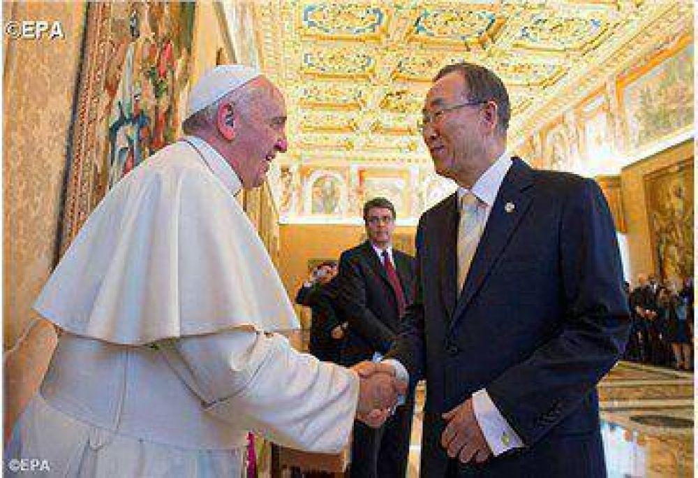 ¡Papa Francisco bienvenido a la ONU!