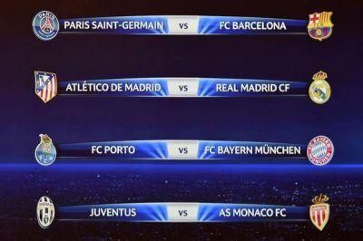 Sortearon los cuartos de final en la Champions League: otra vez Real Madrid-Atlético de Madrid