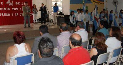 Realizaron acto por el D�a de la Memoria en Colegio 5 de Felipe Varela