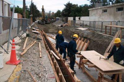 El Gobierno Provincial invierte 11 millones de pesos en la construcción de desagüe pluvial en Rada Tilly