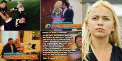 El operativo anti-Ojeda de Maradona y Rocío Oliva: se muestran juntos y felices; buena vida y deportes