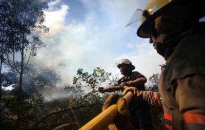 Concluyó el trabajo de los bomberos en Sierra de los Difuntos